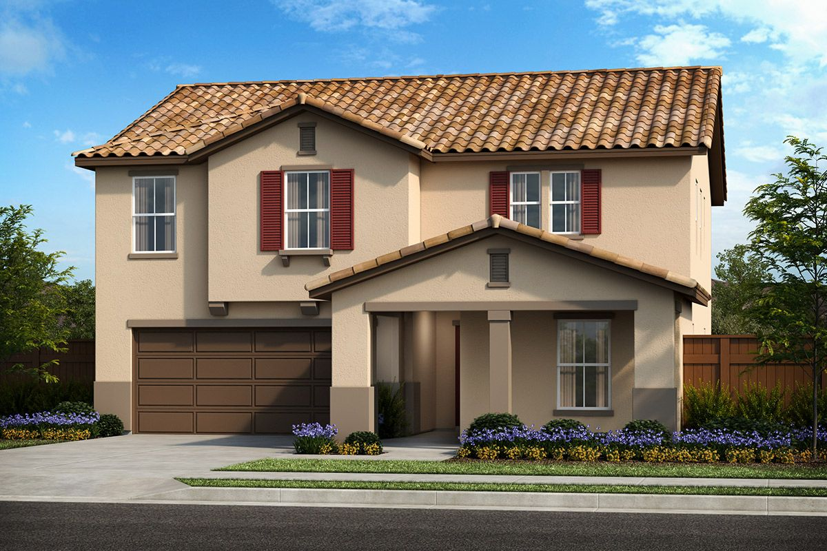 Exterior featured in the Plan 2308 By KB Home in Modesto, CA