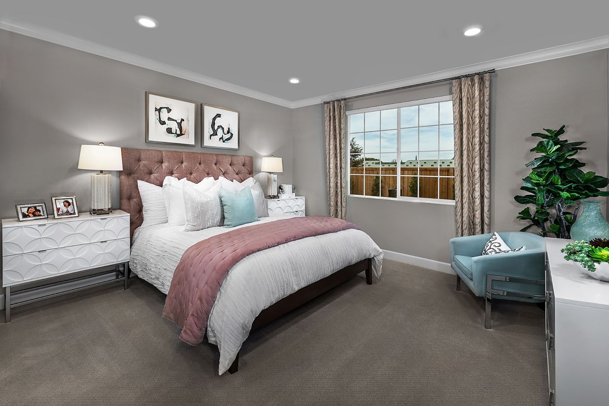 Bedroom featured in the Plan 1450 Modeled By KB Home in Modesto, CA