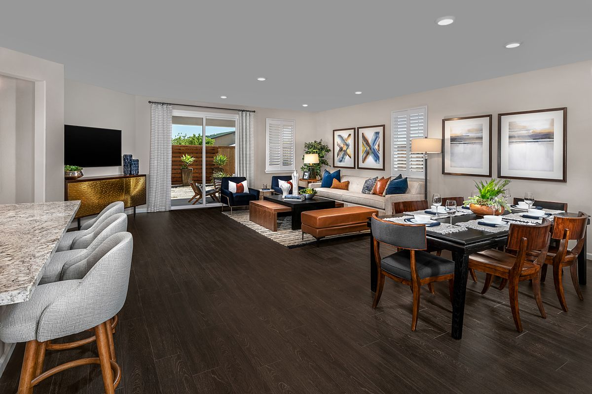 Living Area featured in the Plan 1934 Modeled By KB Home in Modesto, CA