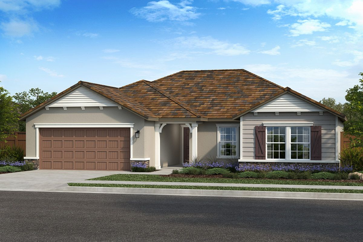 Exterior featured in the Plan 1779 Modeled By KB Home in Modesto, CA