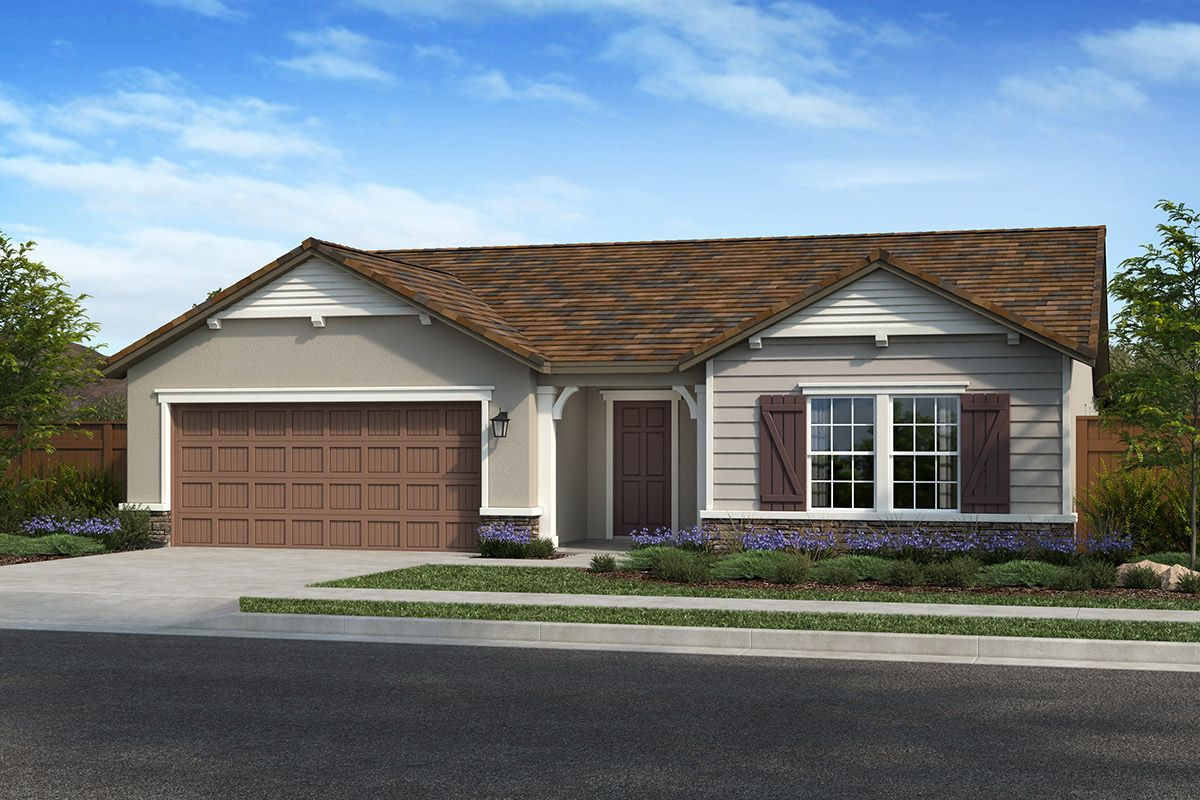 Exterior featured in the Plan 2354 By KB Home in Modesto, CA