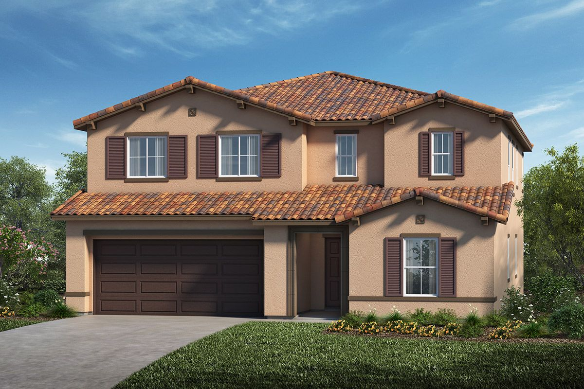 Exterior featured in the Plan 2847 By KB Home in Stockton-Lodi, CA