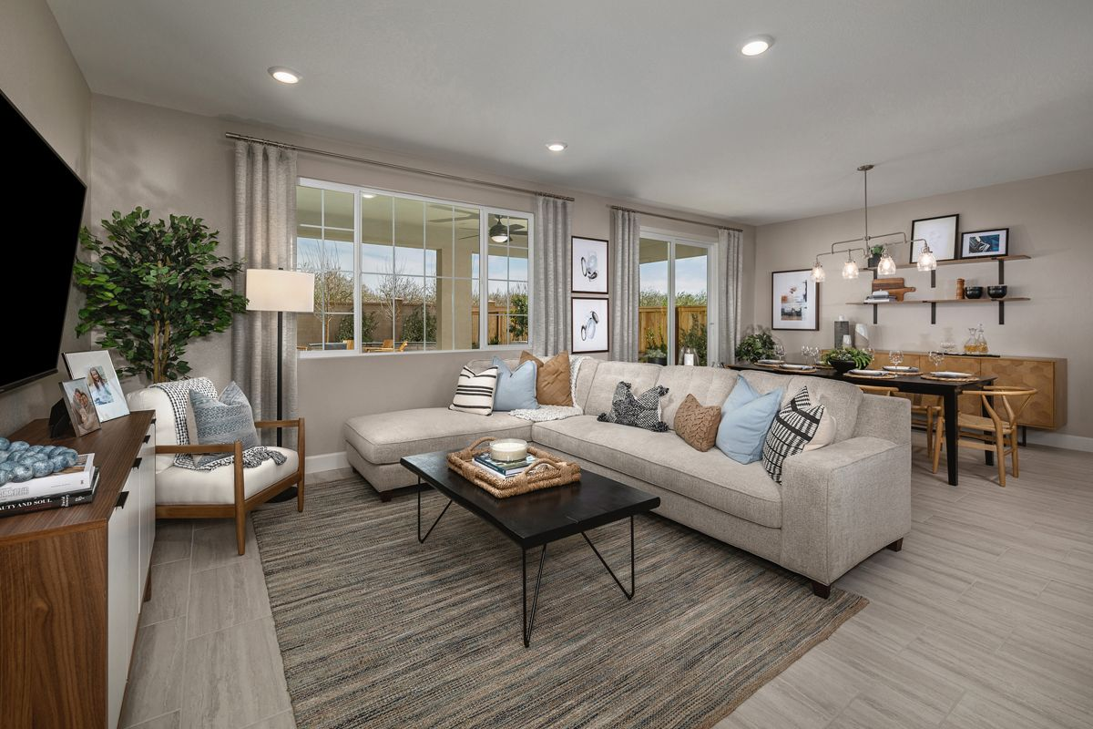 Living Area featured in the Plan 1779 Modeled By KB Home in Modesto, CA