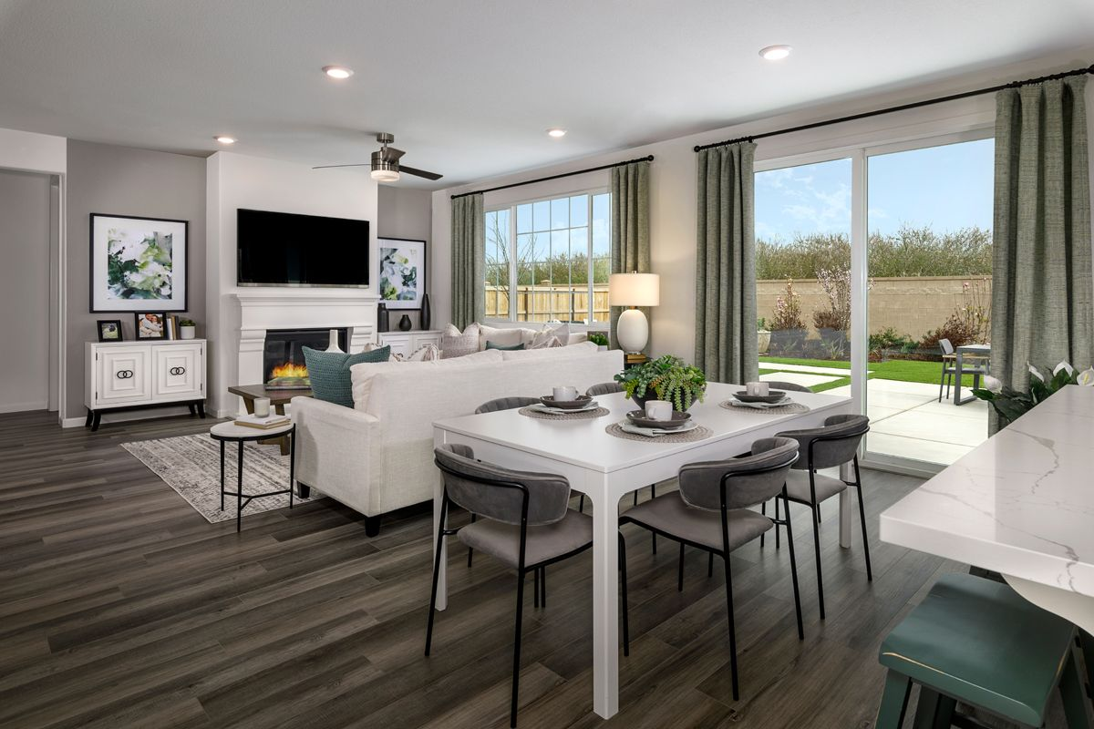 Living Area featured in the Plan 1996 Modeled By KB Home in Modesto, CA