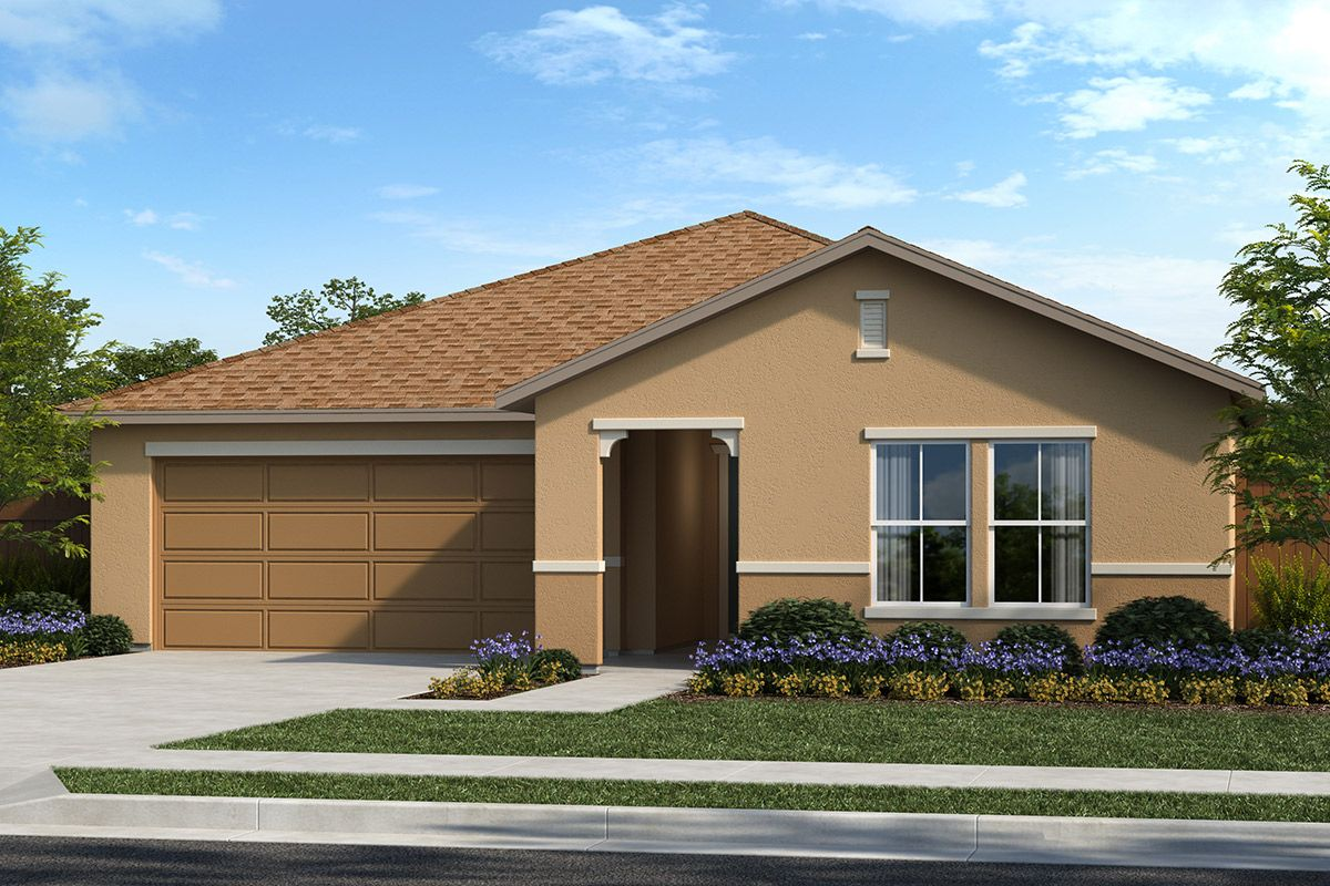 Exterior featured in the Plan 1450 By KB Home in Stockton-Lodi, CA