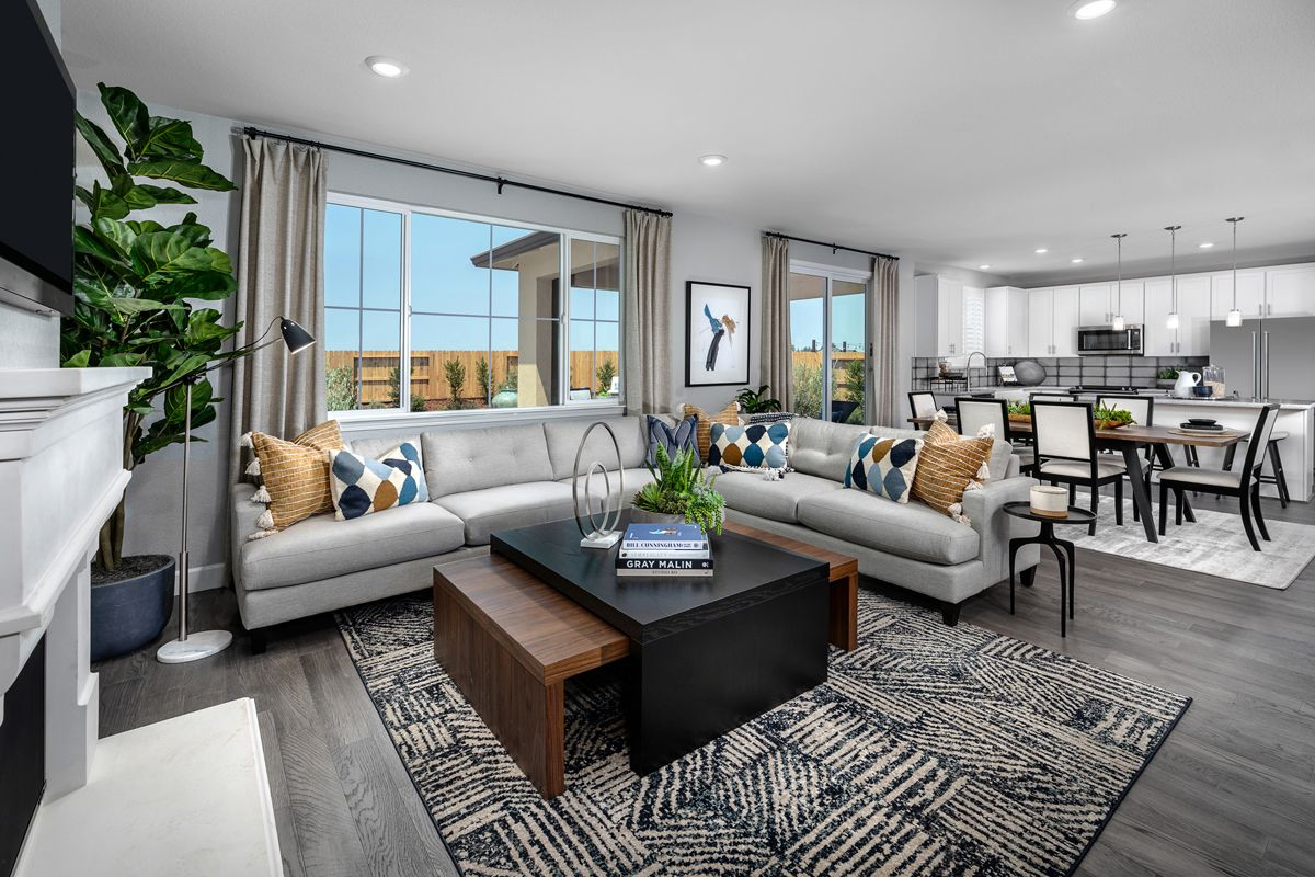 Living Area featured in the Plan 2308 Modeled By KB Home in Stockton-Lodi, CA