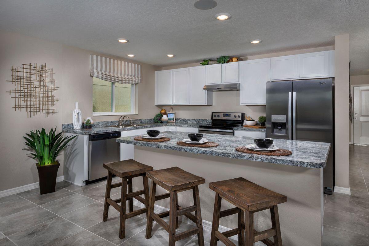 Kitchen-in-Plan 1707 Modeled-at-Stewart Lake Preserve-in-Groveland