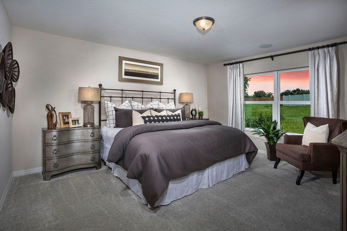 Bedroom-in-Plan 1707 - Modeled-at-The Gardens at Lake Jackson Ridge-in-Mascotte