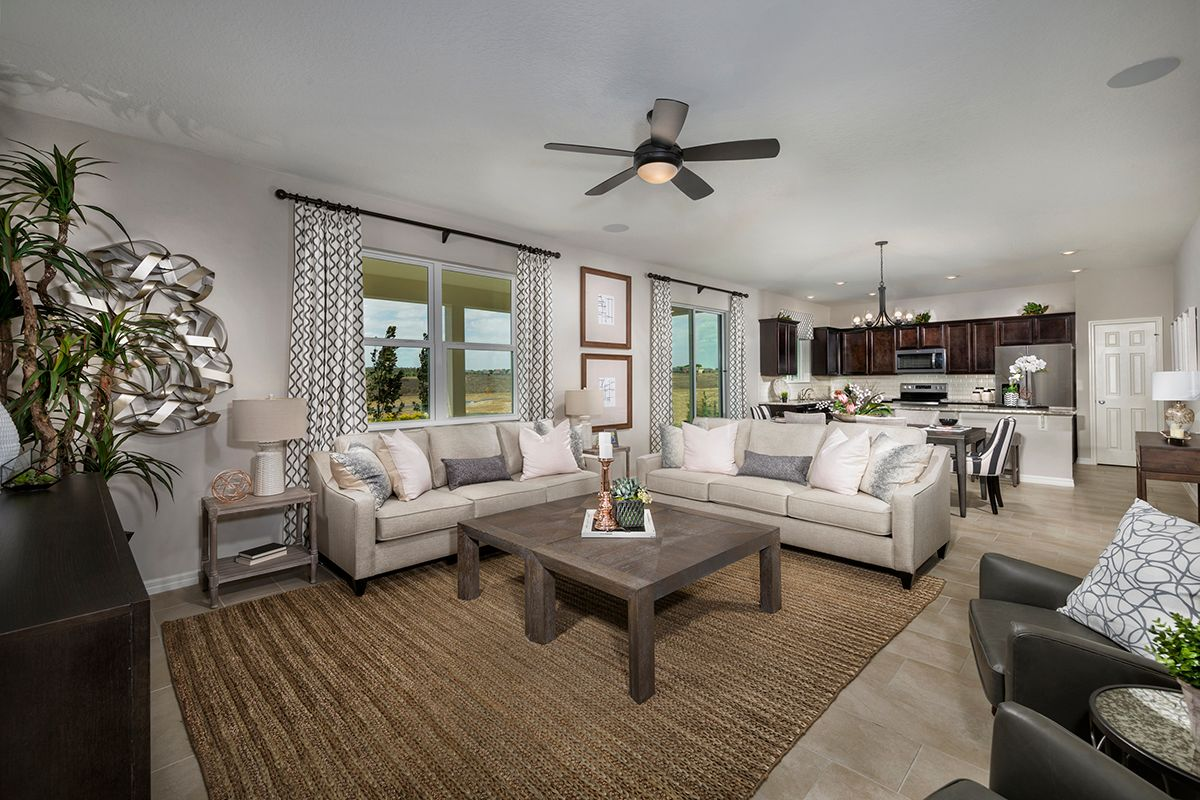 Living Area featured in the Plan 2566 Modeled By KB Home in Lakeland-Winter Haven, FL