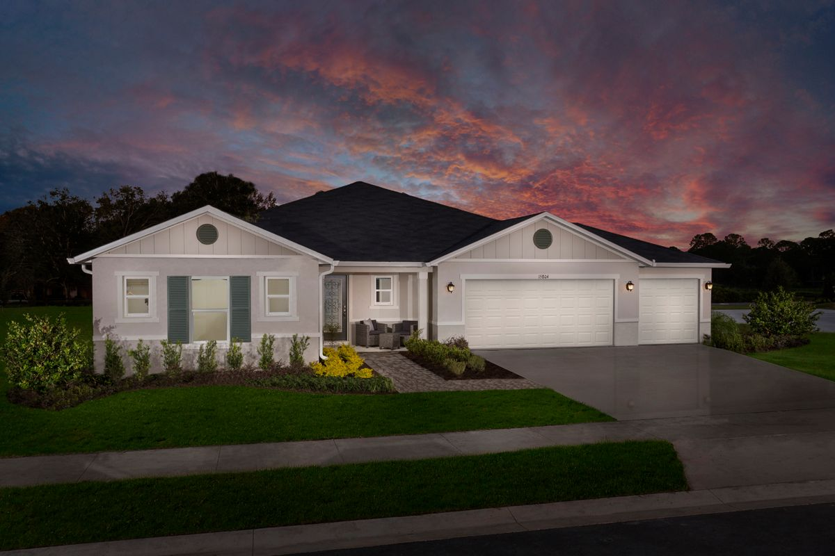 Exterior featured in the Plan 2178 Modeled By KB Home in Orlando, FL