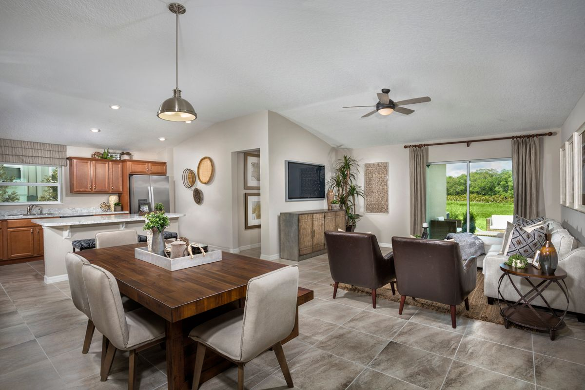 Living Area featured in the Plan 1511 - Modeled By KB Home in Lakeland-Winter Haven, FL