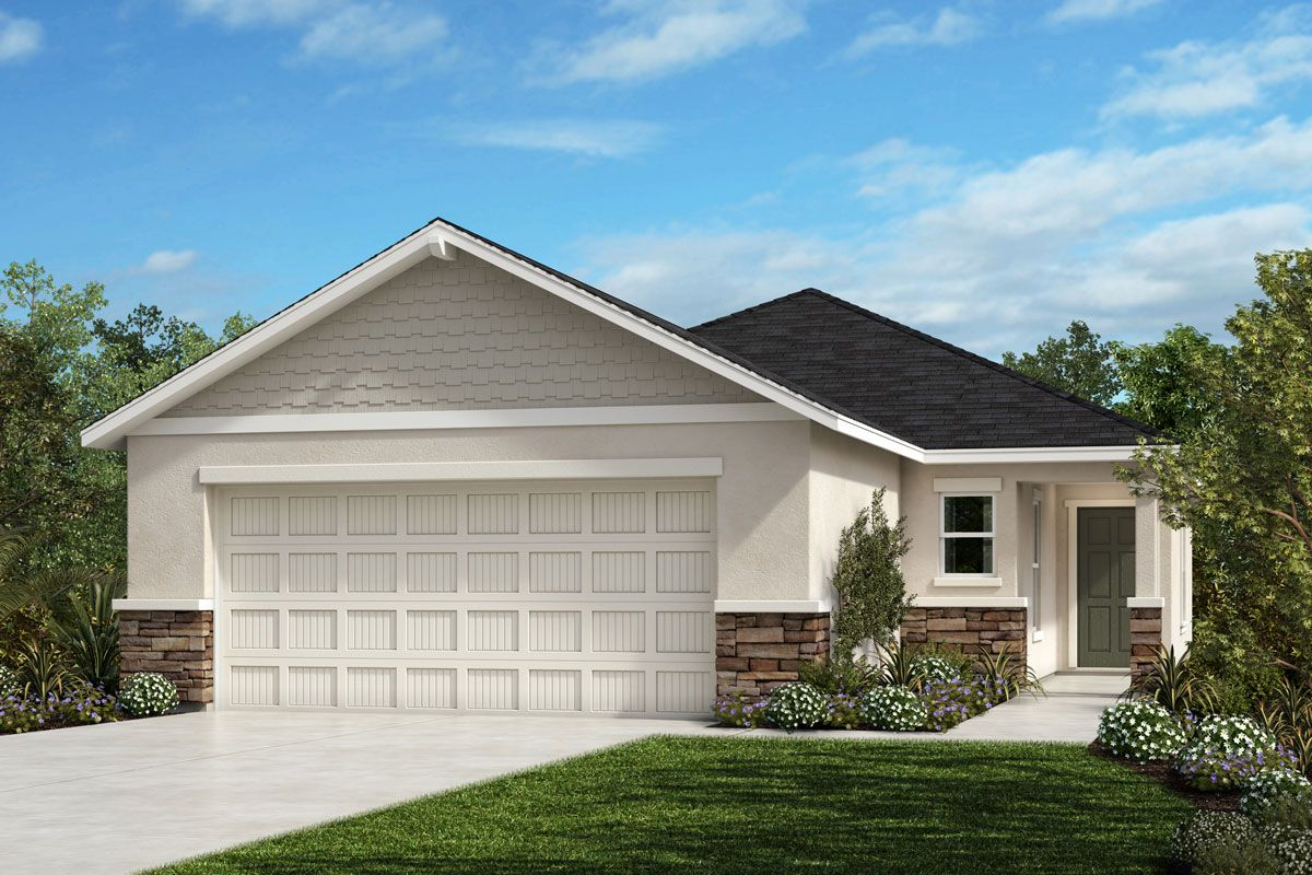 Exterior featured in the Plan 1511 - Modeled By KB Home in Lakeland-Winter Haven, FL