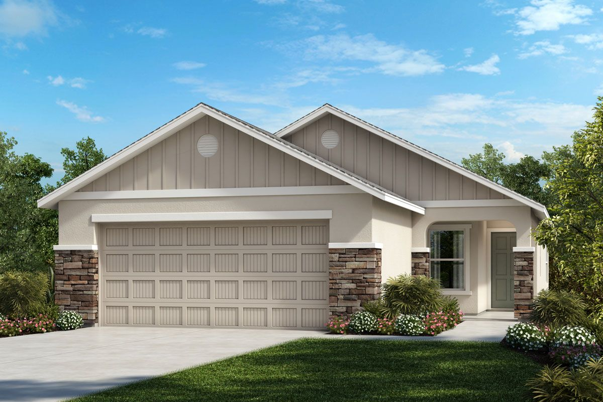 Exterior featured in the Plan 1637 By KB Home in Lakeland-Winter Haven, FL