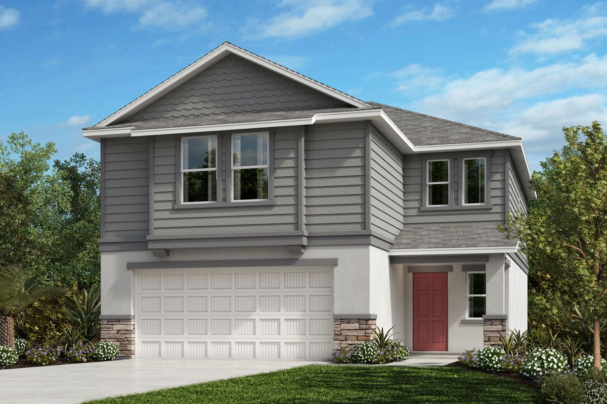 Exterior featured in the Plan 1908 By KB Home in Lakeland-Winter Haven, FL
