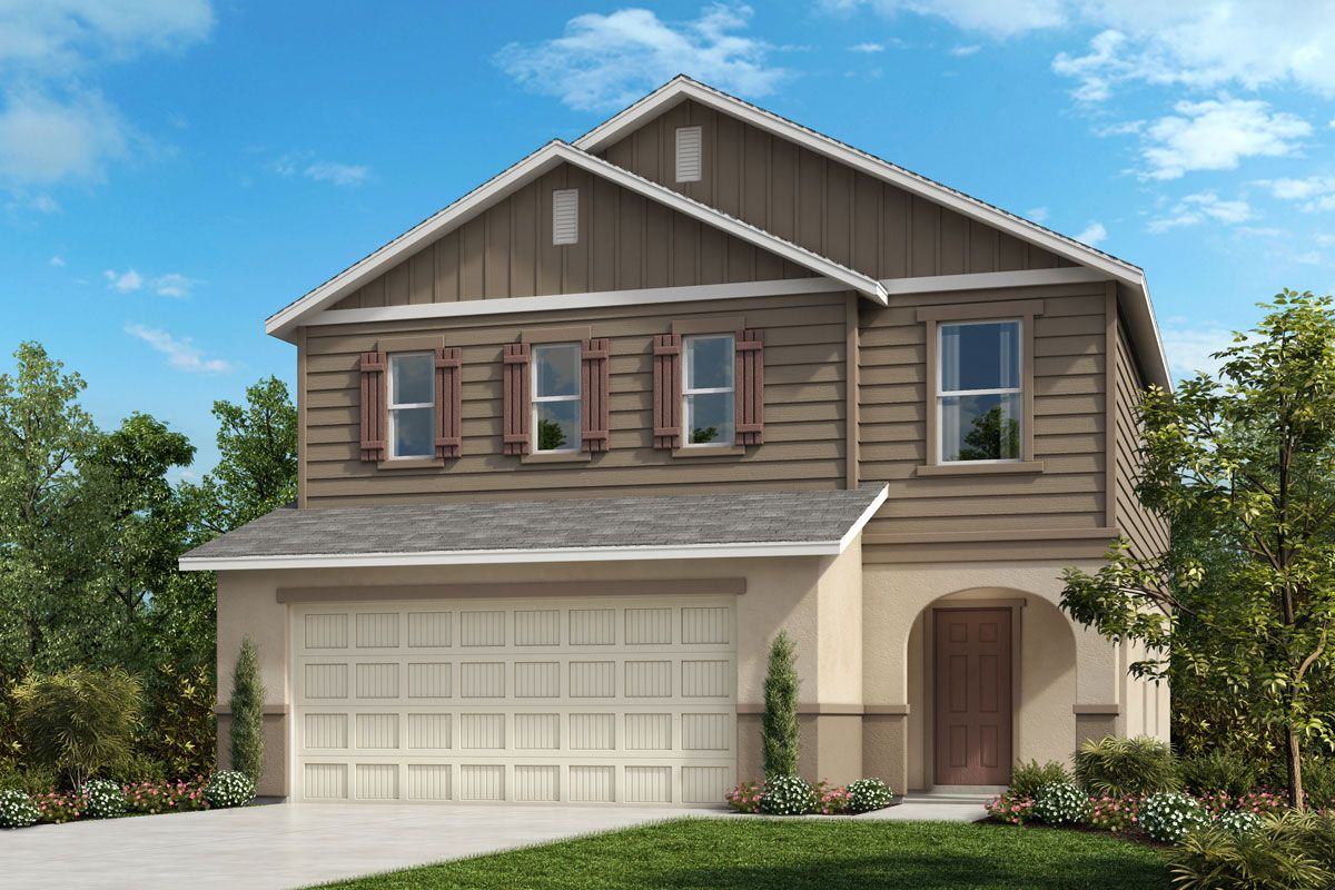 Exterior featured in the Plan 2107 - Modeled By KB Home in Lakeland-Winter Haven, FL