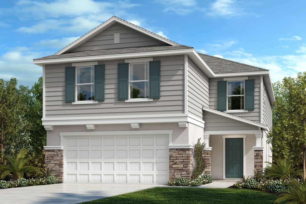 Exterior featured in the Plan 2877 By KB Home in Lakeland-Winter Haven, FL