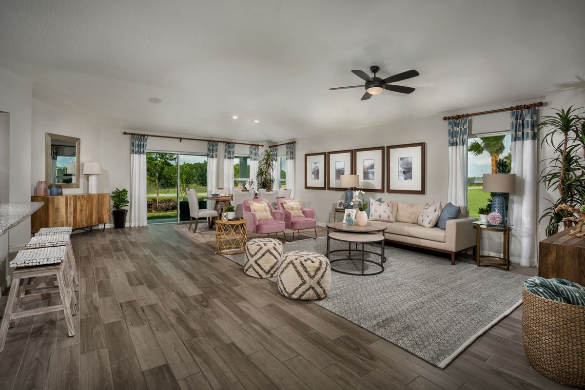 Living Area featured in the Plan 1989 Modeled By KB Home in Lakeland-Winter Haven, FL