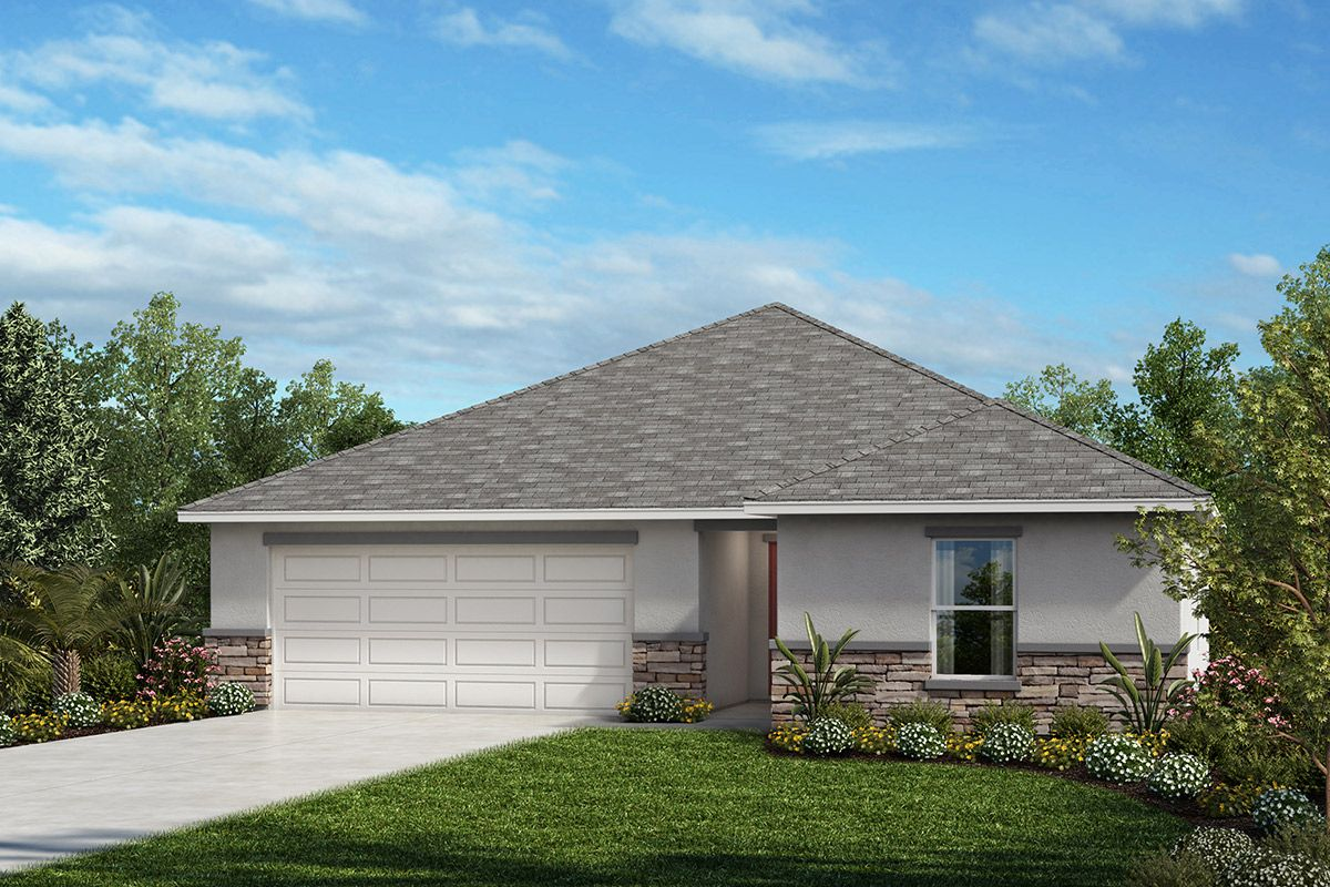 Exterior featured in the Plan 1541 By KB Home in Lakeland-Winter Haven, FL