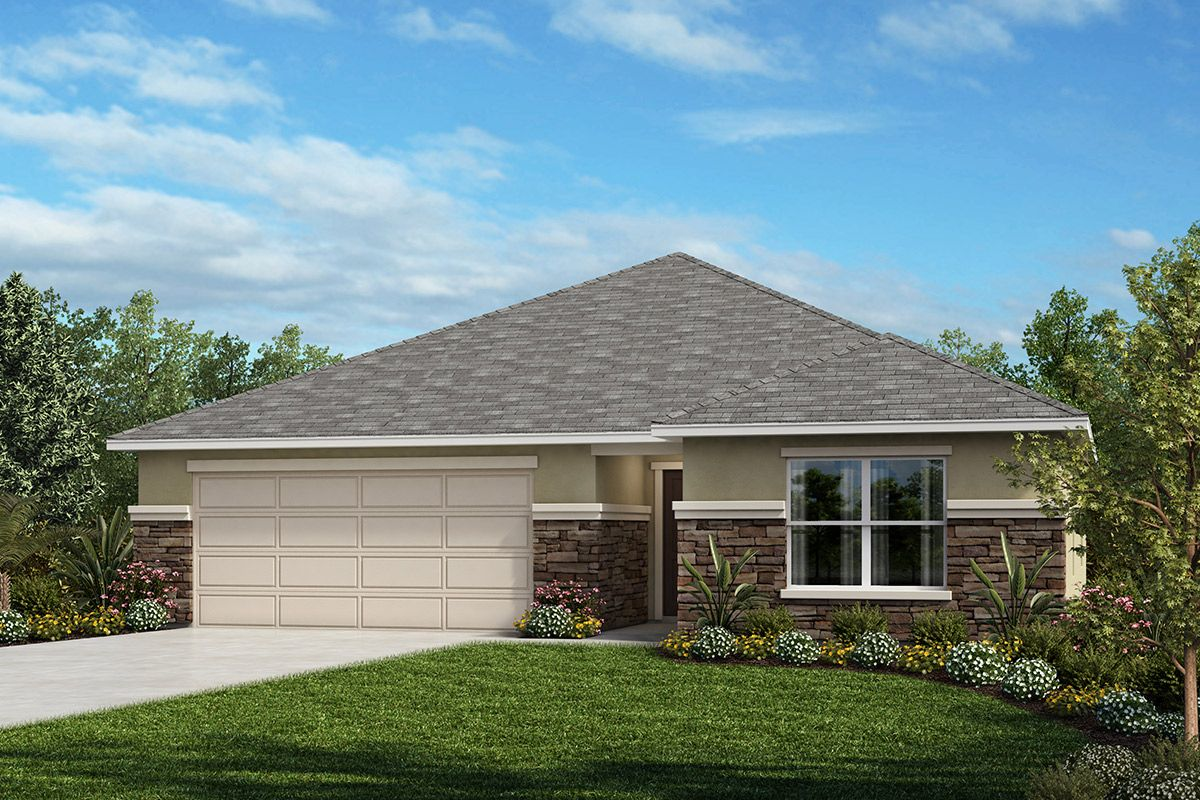Exterior featured in the Plan 2168 By KB Home in Lakeland-Winter Haven, FL