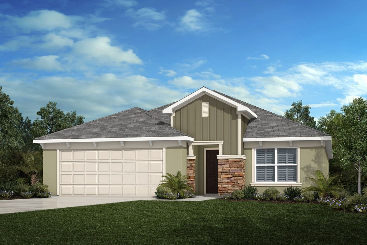 Exterior featured in the Plan 2333 By KB Home in Lakeland-Winter Haven, FL
