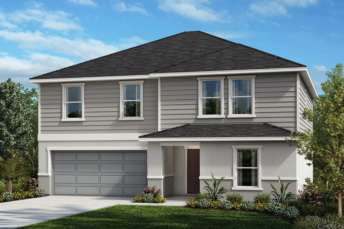 Exterior featured in the Plan 2566 Modeled By KB Home in Lakeland-Winter Haven, FL