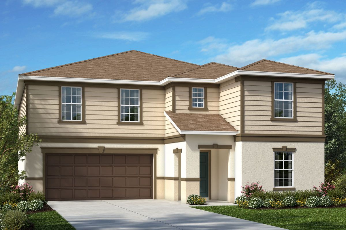 Exterior featured in the Plan 3530 By KB Home in Lakeland-Winter Haven, FL