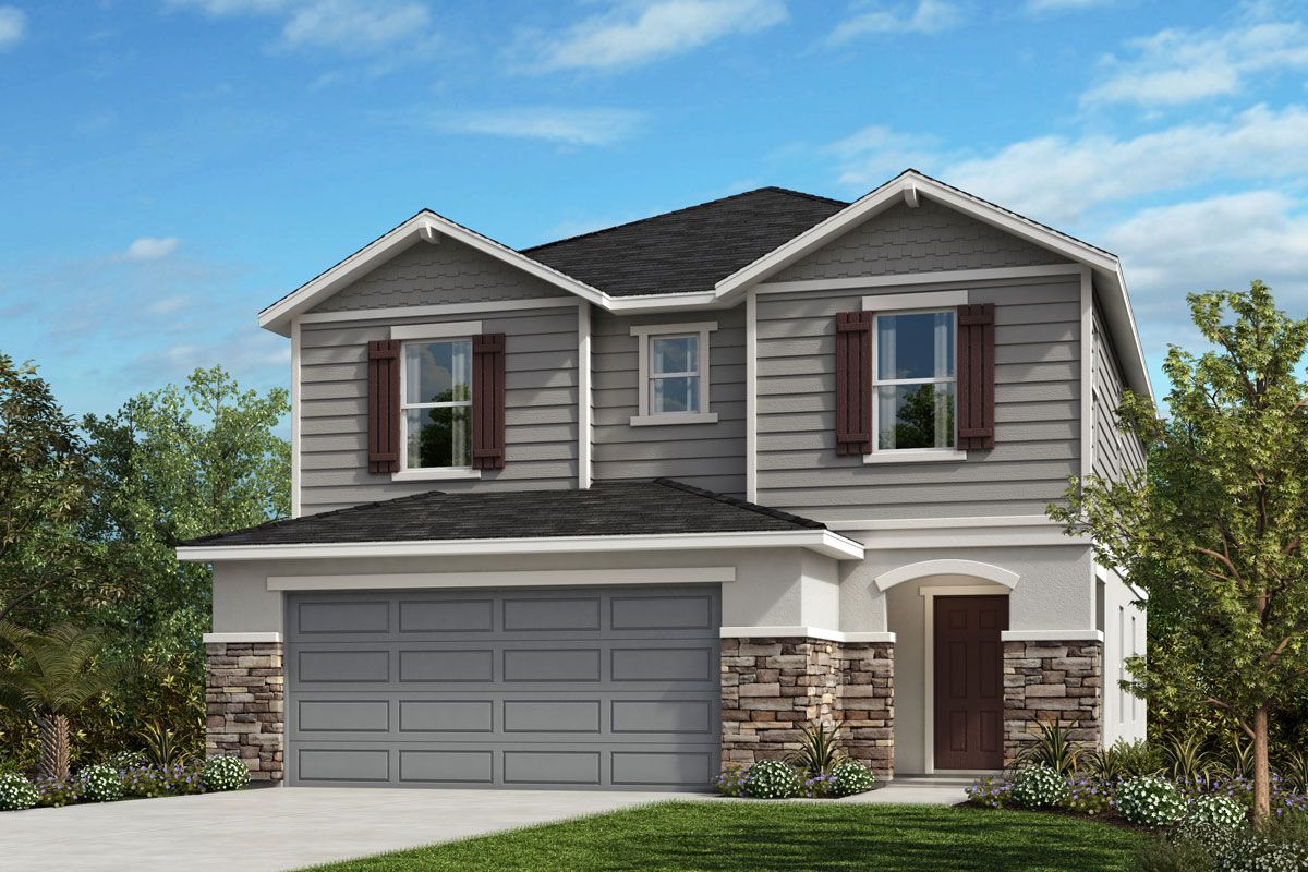 Exterior featured in the Plan 2107 By KB Home in Orlando, FL
