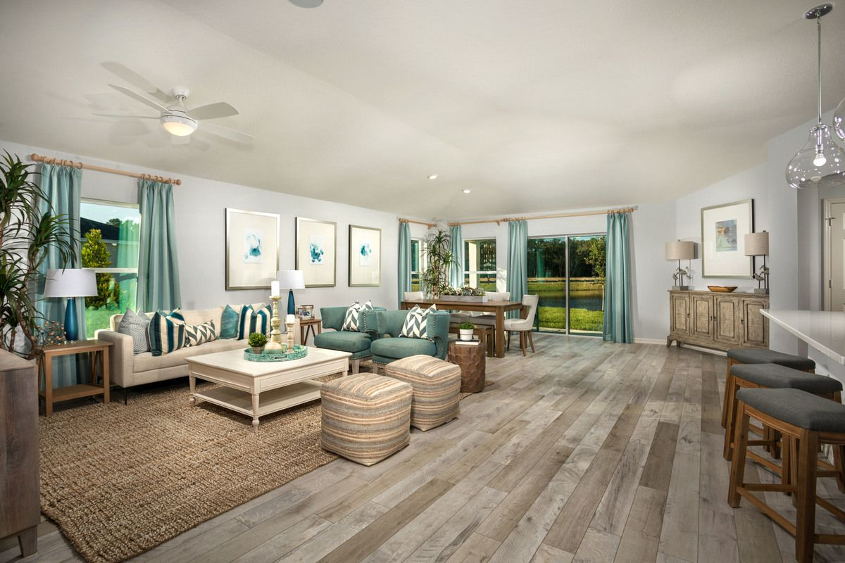 Living Area featured in the Plan 1989 Modeled By KB Home in Melbourne, FL