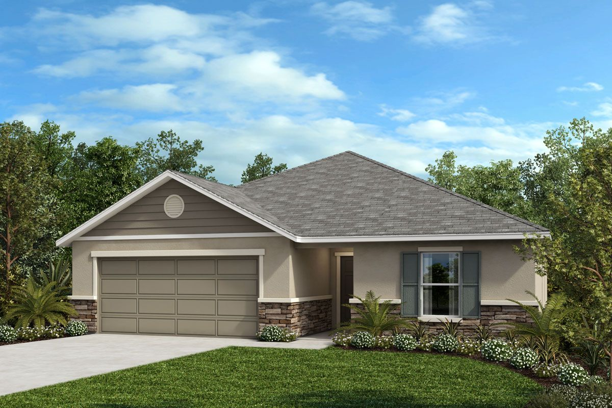 Exterior featured in the Plan 1989 Modeled By KB Home in Lakeland-Winter Haven, FL