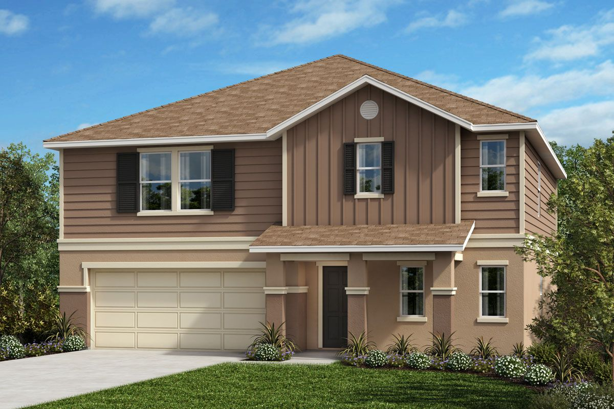 Exterior featured in the Plan 2716 By KB Home in Lakeland-Winter Haven, FL