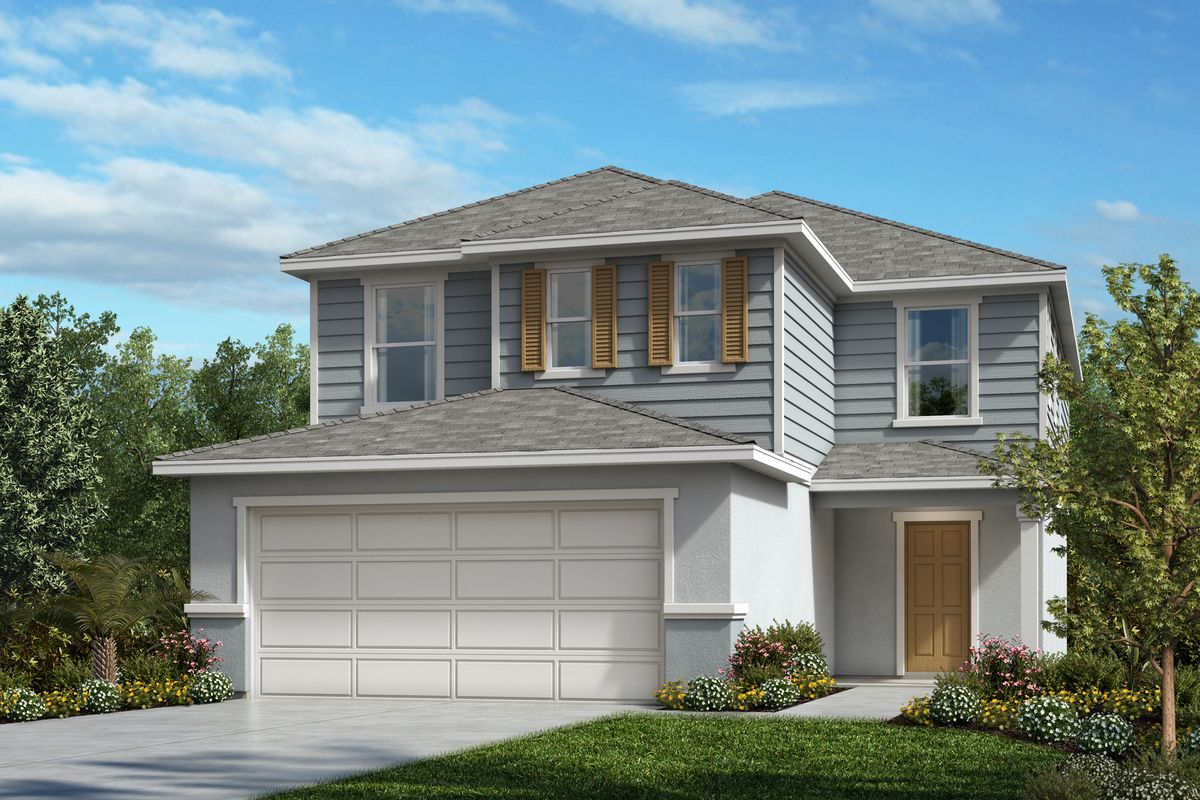 Exterior featured in the Plan 2385 By KB Home in Lakeland-Winter Haven, FL