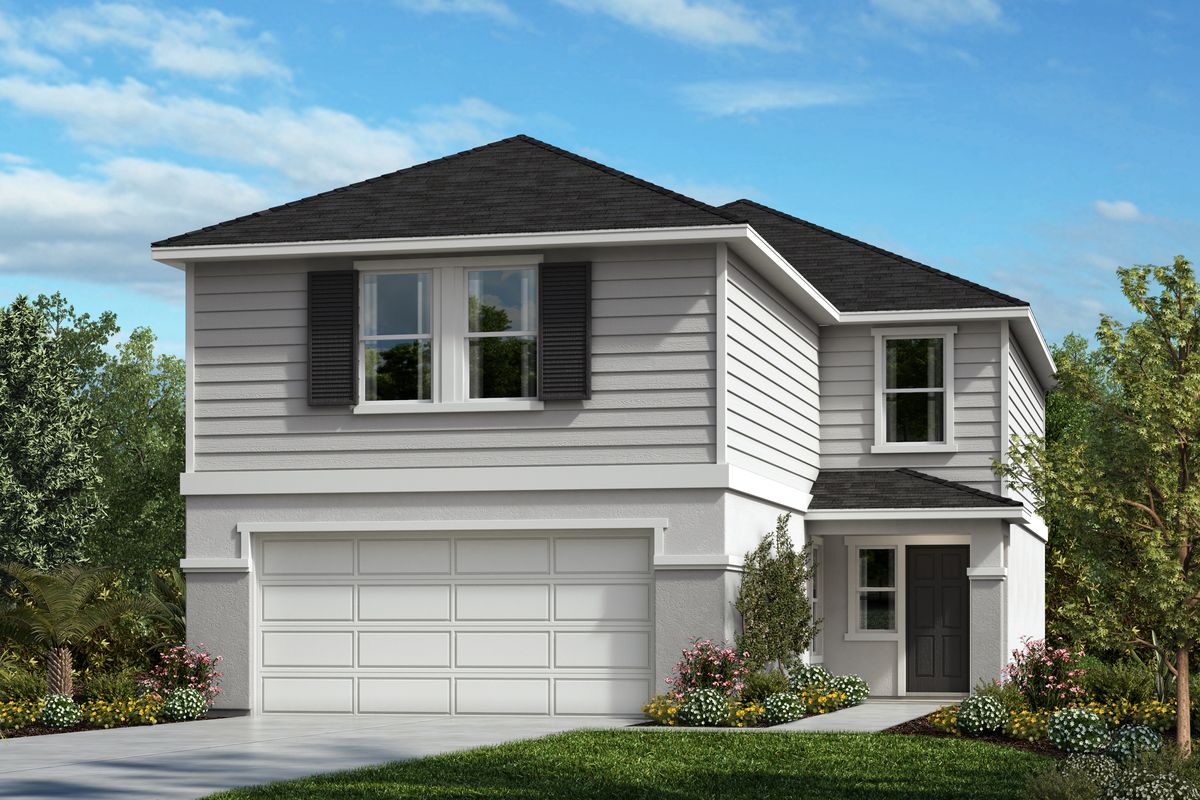 Exterior featured in the Plan 2544 By KB Home in Lakeland-Winter Haven, FL
