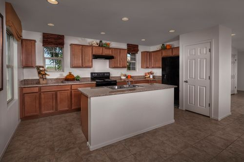 Kitchen-in-Plan 2260 Modeled-at-Copper Crest Villas Collection-in-Mesa