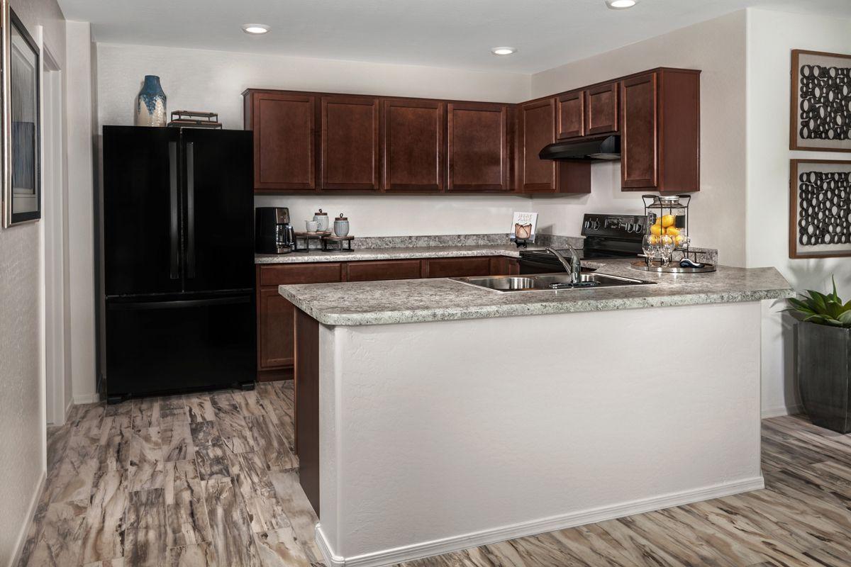 Kitchen-in-Plan 1573 Modeled-at-Juniper at Desert Passage-in-Maricopa