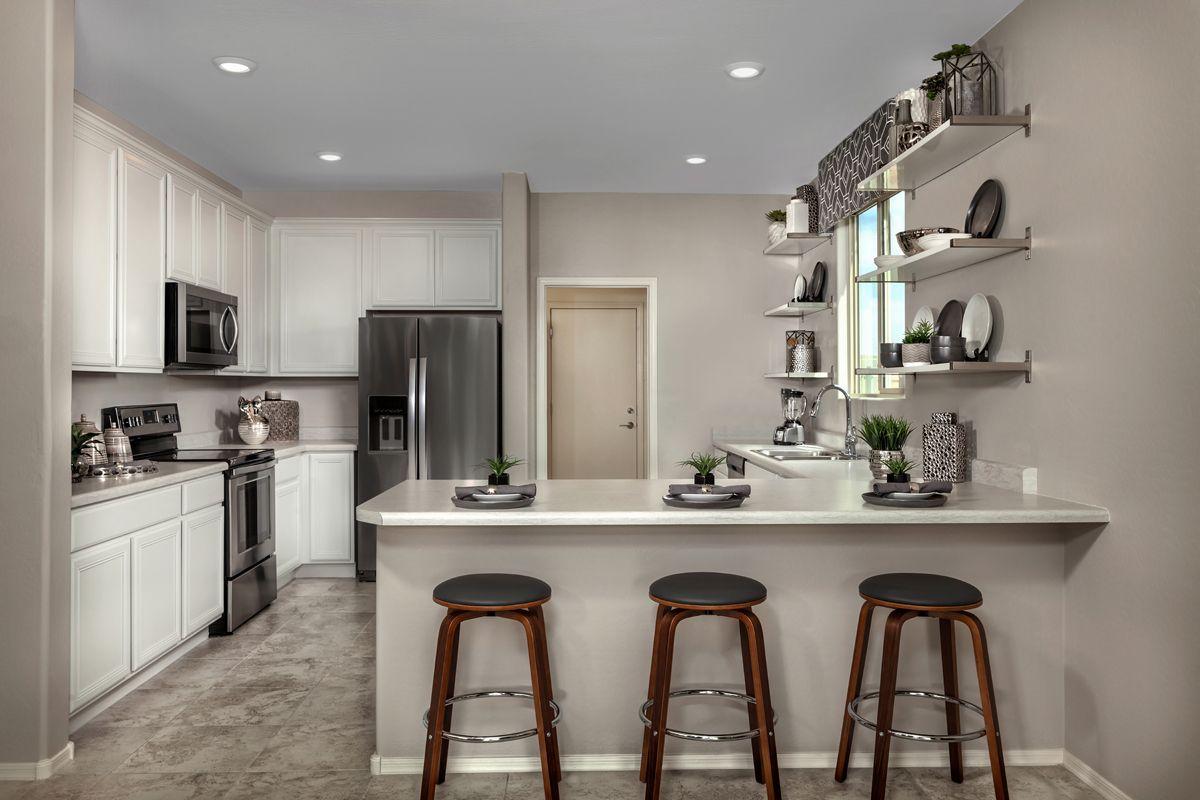 Kitchen-in-Plan 1852 Modeled-at-Juniper at Desert Passage-in-Maricopa