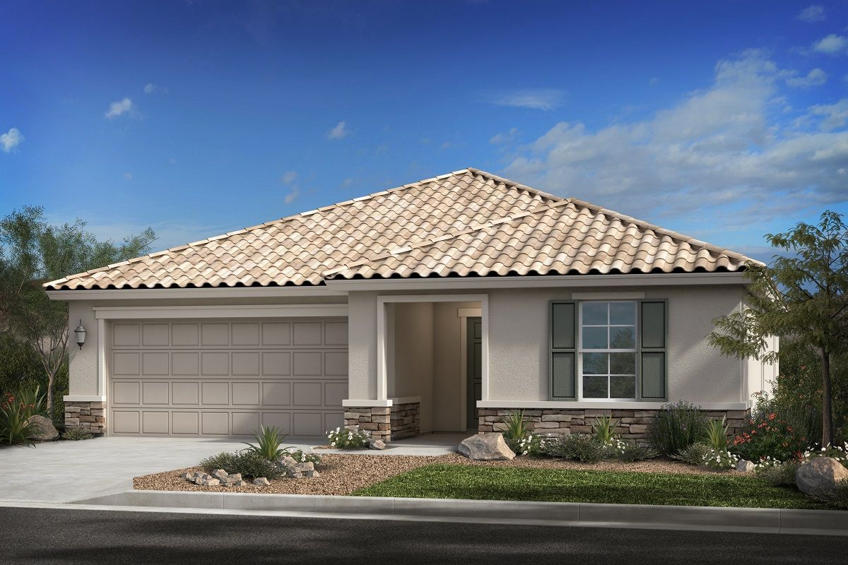 Exterior featured in the Plan 1621 By KB Home in Phoenix-Mesa, AZ