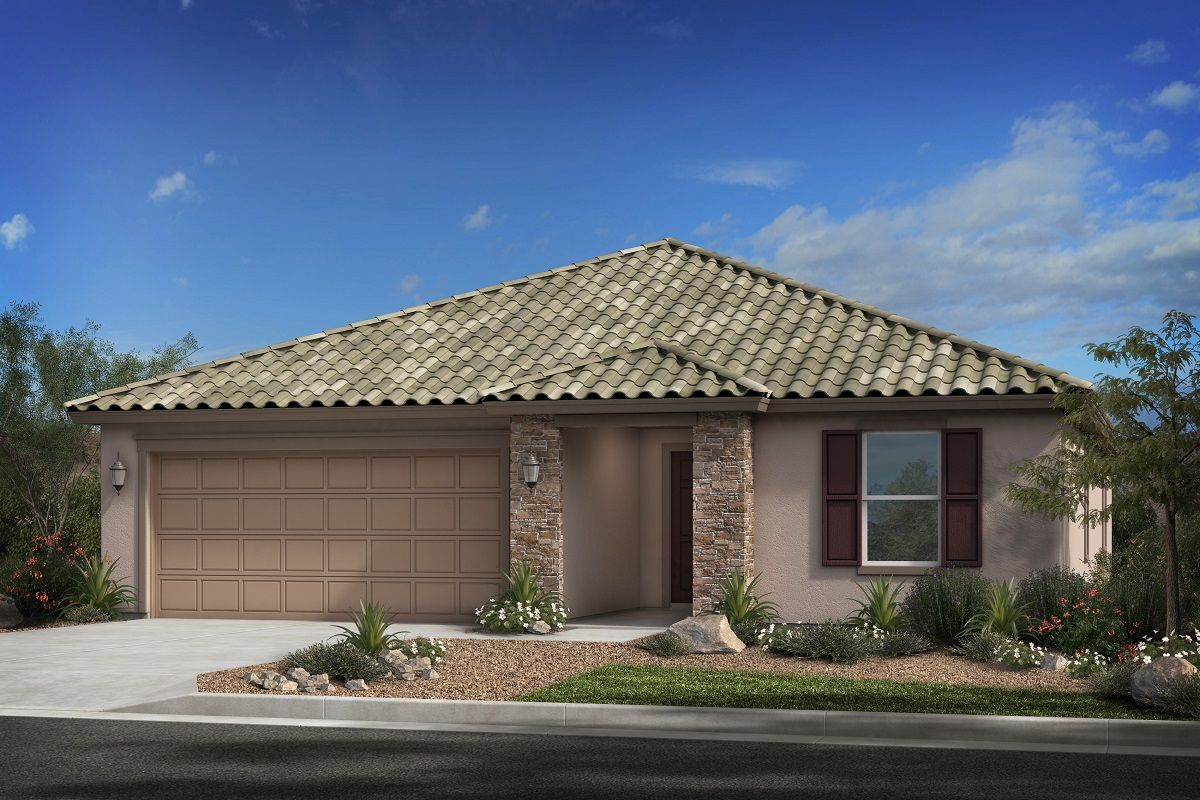Exterior featured in the Plan 2188 Modeled By KB Home in Phoenix-Mesa, AZ