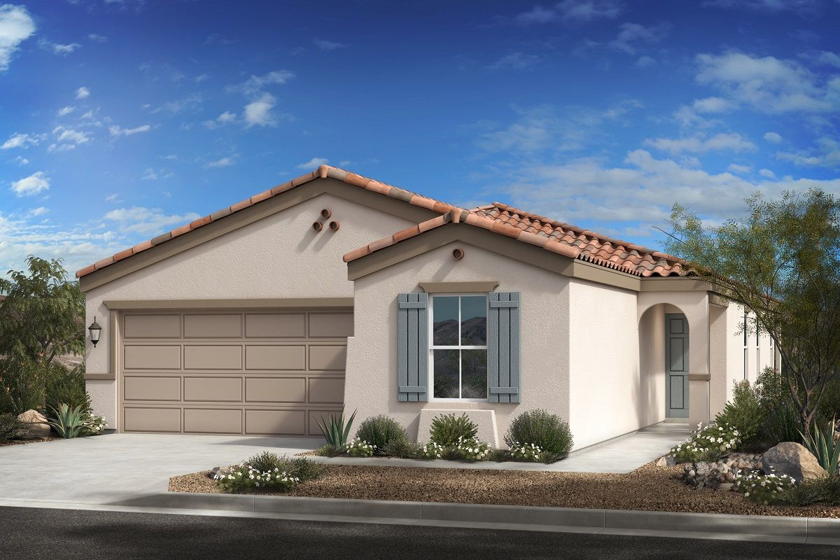 Exterior featured in the Plan 1849 Modeled By KB Home in Phoenix-Mesa, AZ