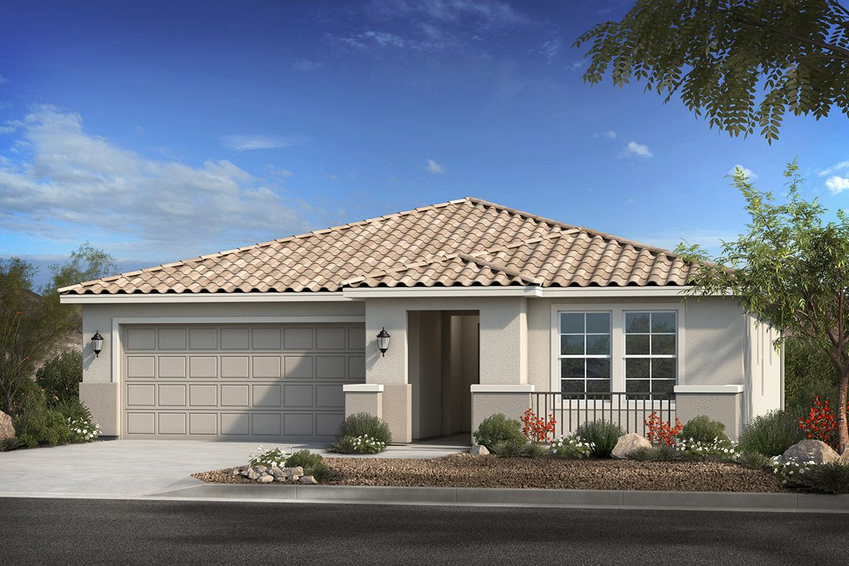 Exterior featured in the Plan 1513 By KB Home in Phoenix-Mesa, AZ