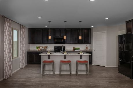 Kitchen-in-Plan 2608 Modeled-at-Sanverno at Desert Oasis-in-Surprise