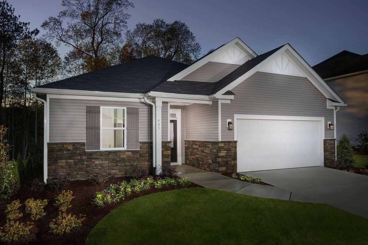 Exterior featured in the Plan 2074 By KB Home in Raleigh-Durham-Chapel Hill, NC