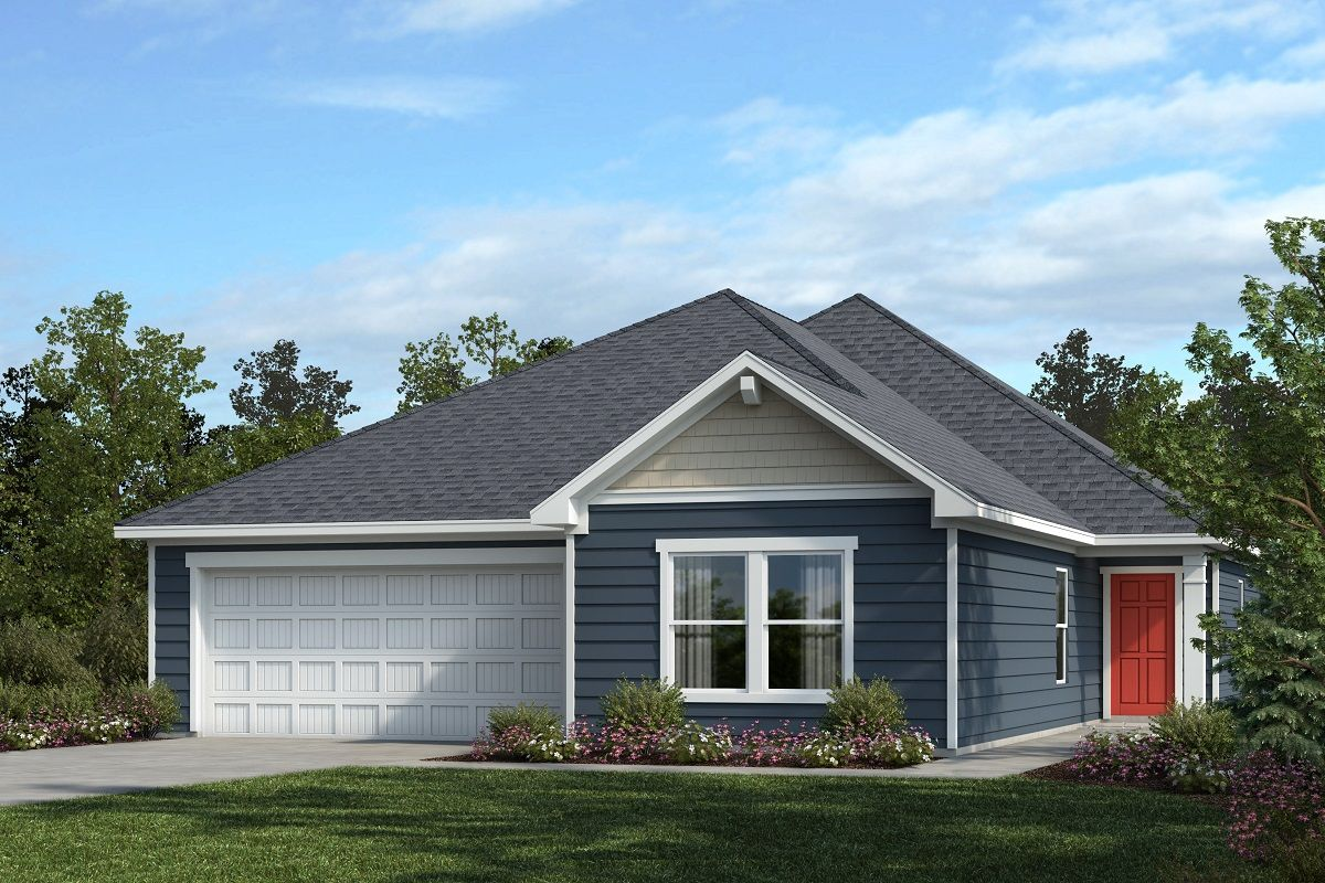 Exterior featured in the Plan 1844 By KB Home in Raleigh-Durham-Chapel Hill, NC