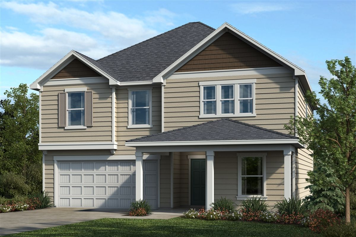 Exterior featured in the Plan 2338 By KB Home in Raleigh-Durham-Chapel Hill, NC