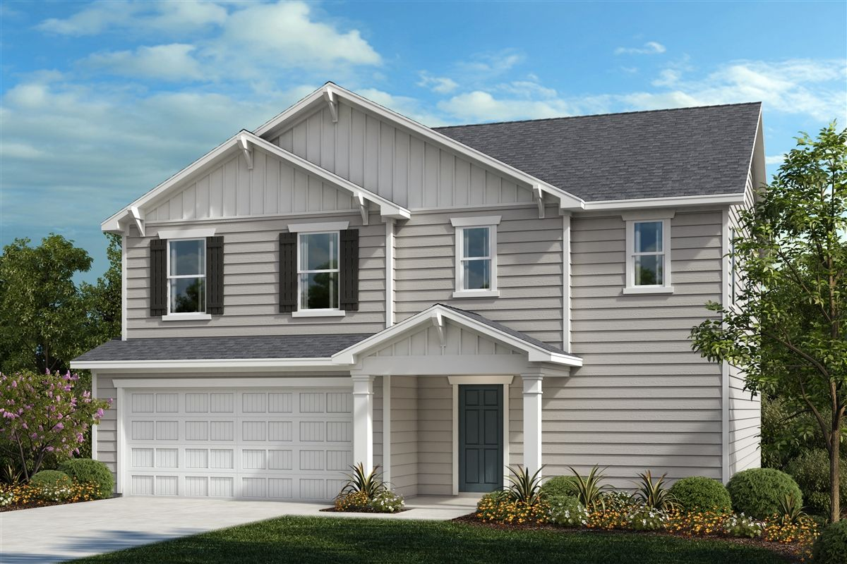Exterior featured in the Plan 2596 By KB Home in Raleigh-Durham-Chapel Hill, NC