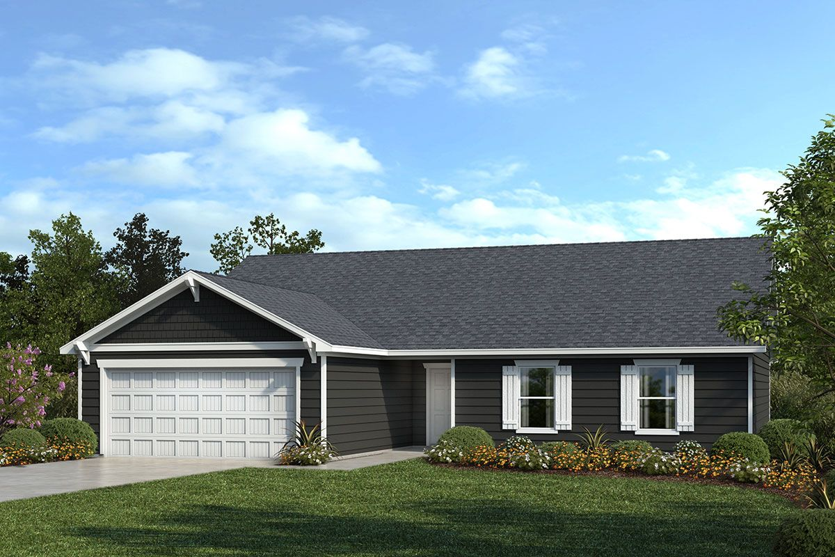 Exterior featured in the Plan 1773 By KB Home in Raleigh-Durham-Chapel Hill, NC