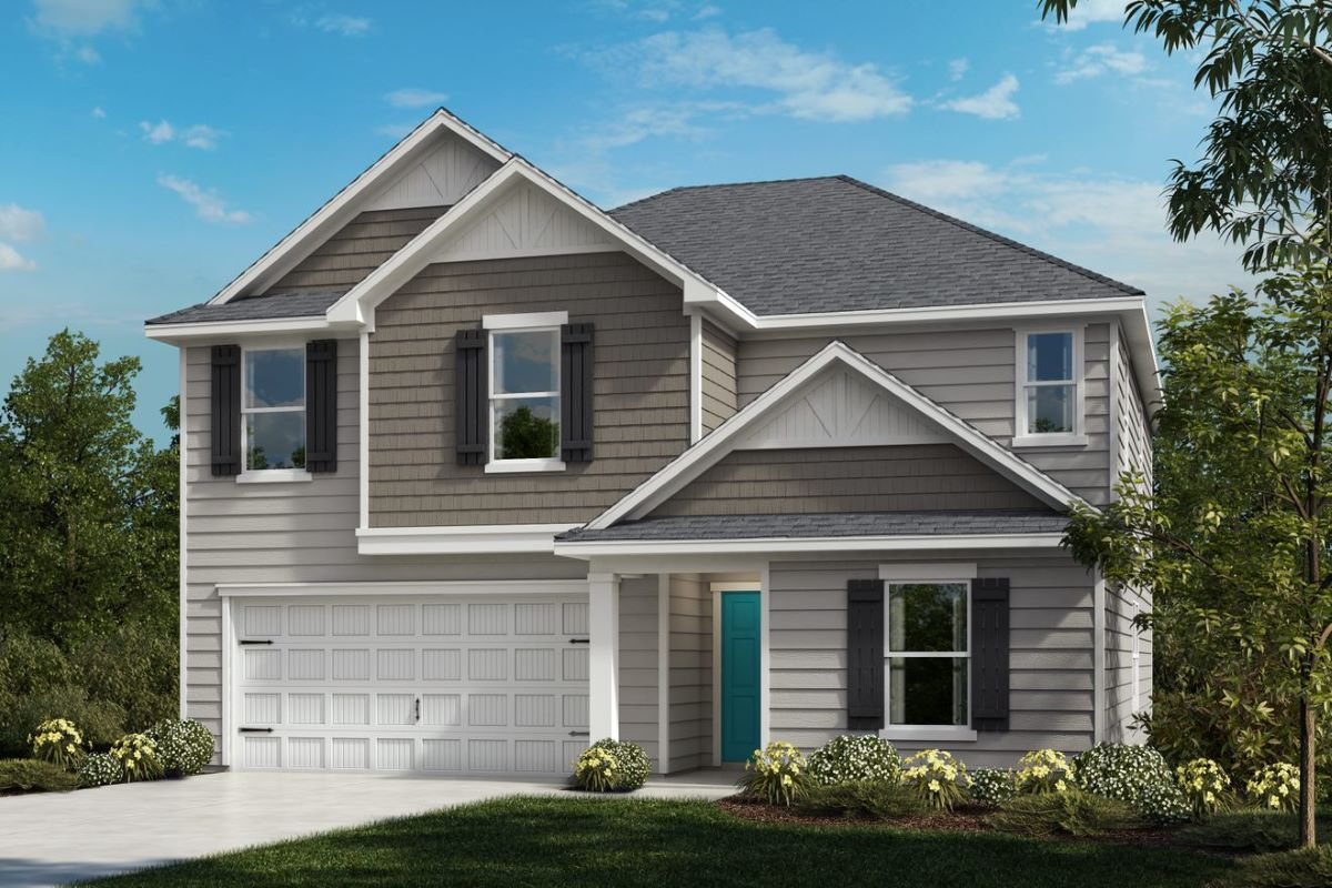 Exterior featured in the Plan 2723 By KB Home in Raleigh-Durham-Chapel Hill, NC