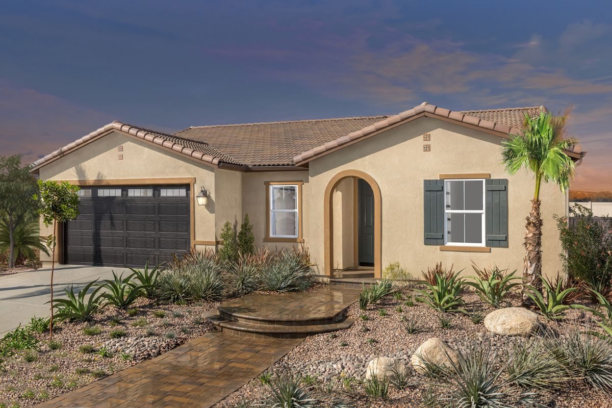 Exterior featured in the Residence 2091 By KB Home in Riverside-San Bernardino, CA