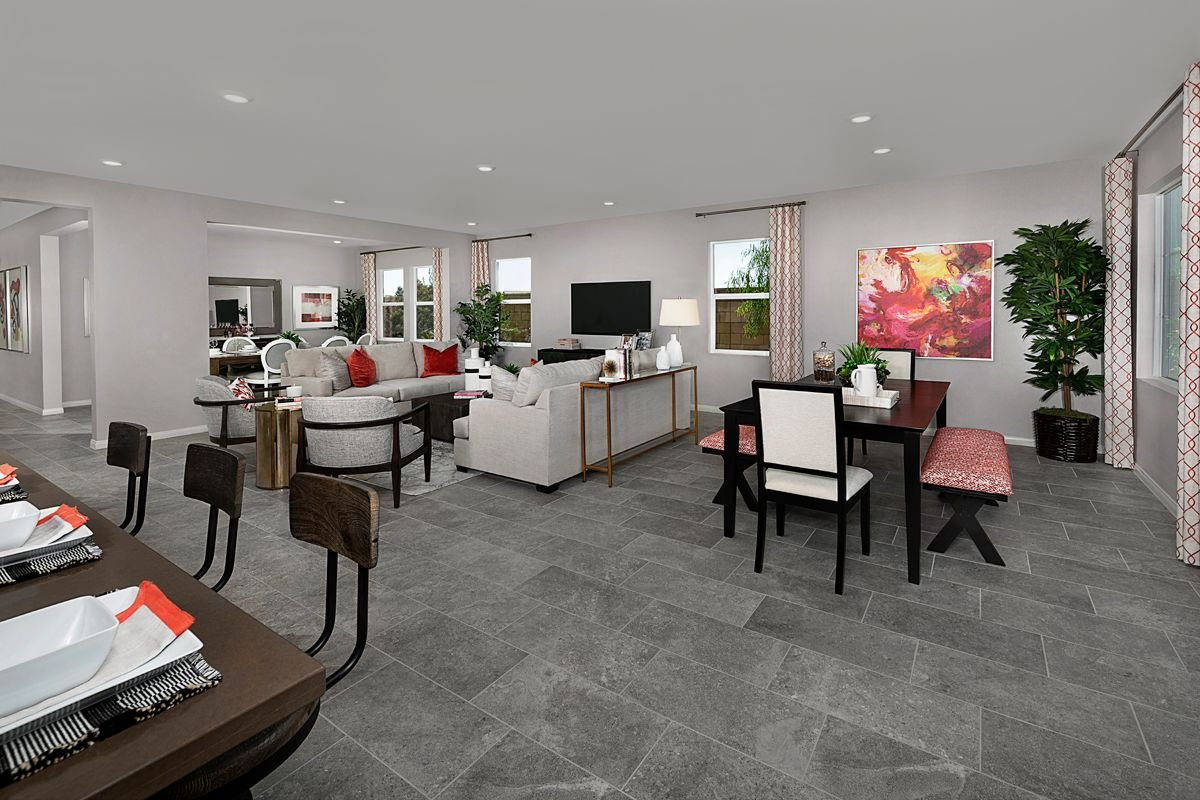 Living Area featured in the Residence Four Modeled By KB Home in Riverside-San Bernardino, CA