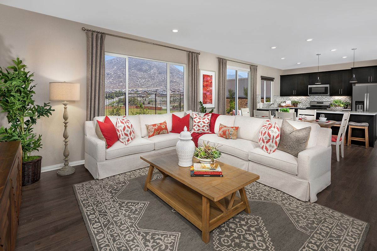 Living Area featured in the Residence Eleven Modeled By KB Home in Riverside-San Bernardino, CA