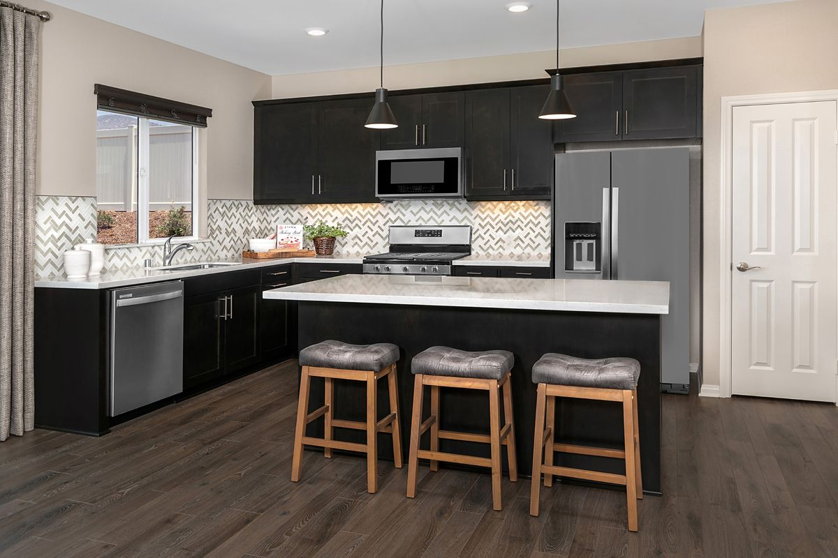 Kitchen featured in the Residence Eleven Modeled By KB Home in Riverside-San Bernardino, CA
